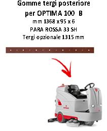 Hinten Sauglippen squeegee da 1315 mm für Scheuersaugmaschinen COMAC OPTIMA 100  B