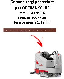 goma de secado trasero squeegee da 1315 mm para fregadora OPTIMA 90 BS Comac