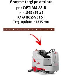 Gomma tergi posteriore squeegee da 1315 mm per lavapavimenti OPTIMA 85 B Comac
