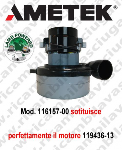 vacuum motor 116157-00 LAMB AMETEK for Scrubber Dryer e vacuum cleaner