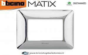 MATIX PLACCA COLORE CROMO LUCIDO 3 POSTI