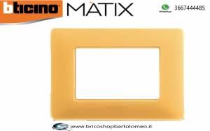 MATIX PLACCA COLORE AMBRA 3 POSTI