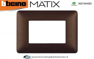 MATIX PLACCA MARRONE CAFFÉ 3 POSTI