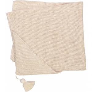 Coperta panna con nappa