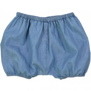 Pantaloncino blu con vita elasticizzata