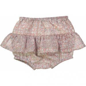 Pantaloncino rosa con stampe fiori