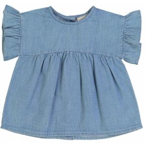 Blusa blu a maniche corte