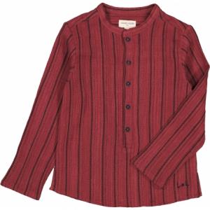 Camicia mattone con righe nere