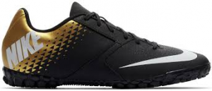 SCARPA CALCETTO NIKE BOMBA TF 826486 077 BLACK/WHITE/GOLD