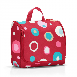 Reisenthel - Toilet Bag XL - Beauty case grande con specchio interno funcky dots multicolore cod. WO3048