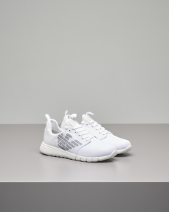 Sneakers bianche in mesh