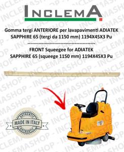 Gomma tergi ANTERIORE per lavapavimenti ADIATEK SAPPHIRE 65 (tergi da 1150 mm)