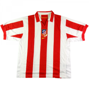 43622ab74 2003-04 ATLETICO MADRID HOME SHIRT CENTENARY XL (TOP)