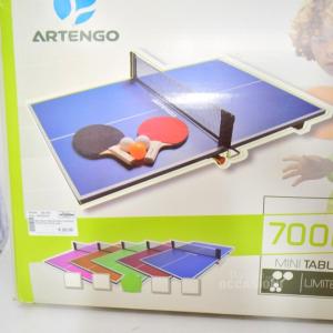 Mini Table Tenis Artengo Conpreso Di Racchette E Palline