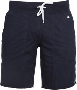 Pantaloncino di tuta blu con loghi bianchi