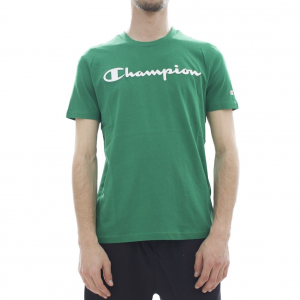 T-Shirt verde con stampa logo bianco
