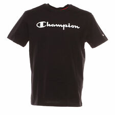 T-Shirt nera con stampa logo bianco