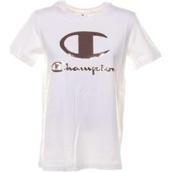 T-Shirt bianca con paillettes logo rosa
