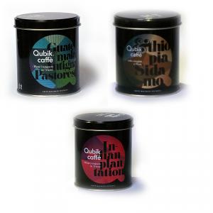 Qubik Tris caffè Monooriginali 3 lattine da 125gr ognuna