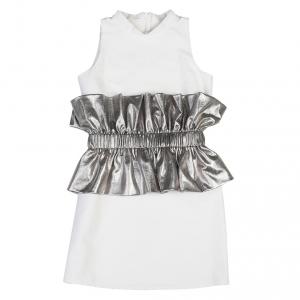Vestito panna e argento