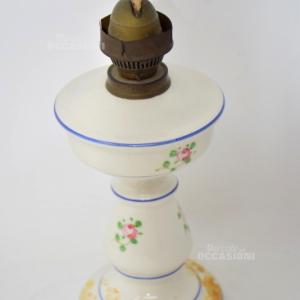 Lampada A Olio In Ceramica(no Vetro) H25