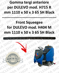 H715 R Squeegee Rubber lavapavimenti anteriore for DULEVO