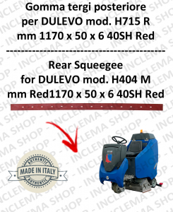 H715 R Squeegee Rubber scrubber dryer posteriore for DULEVO