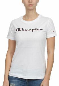 T-Shirt bianca con stampa logo nero