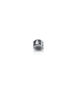 Charm Cilindro argento scritta papà femminuccia
