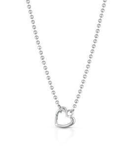Collana Lock Your Love moschettone cuore argento