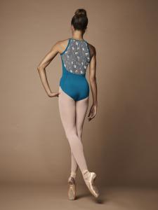 Body collezione Bloch supplex con tulle elasticizzato