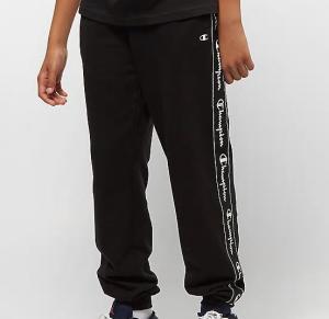 Pantalone nero con stampa loghi bianchi
