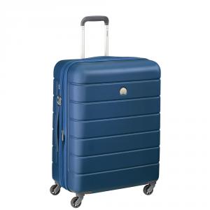 Delsey - Lagos - Valigia trolley medio 66 cm 4 ruote TSA rigido blu cod. 3870810