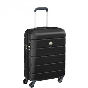 Delsey - Lagos  - Valigia trolley da cabina Ryanair 55 cm 4 ruote TSA rigido nero cod. 3870803