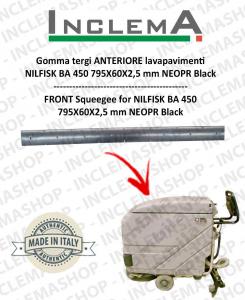 Gomma tergi ANTERIORE per Nilfisk BA 450