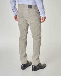 Pantalone chino beige micro-armatura