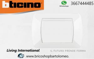 LIVING INTERNATIONAL PLACCA 3 MODULI BIANCA L4803BI