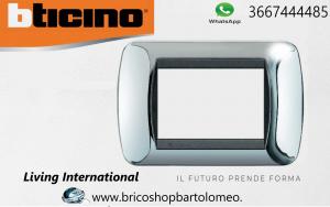LIVING INTERNATIONAL - placca 3 Moduli cromo lucido L4803CR