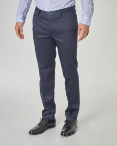 Pantalone blu in cotone stretch