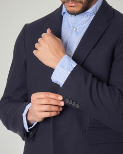 Blazer blu in cotone