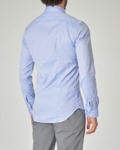 Camicia azzurra in fantasia a cerchietti