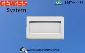 Pulsante Gewiss system portanome 3 moduli bianco GW20024