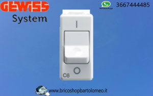 Interruttore Magnetotermico 1P+N 6A System Gewiss GW20434
