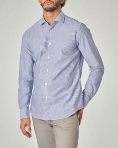 Camicia azzurra micro-trattino