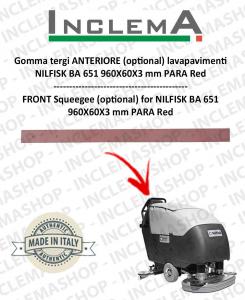 Gomma tergi ANTERIORE (optional) per NILFISK BA 651