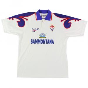 1995-96 Fiorentina Match worn #14 Cois XL