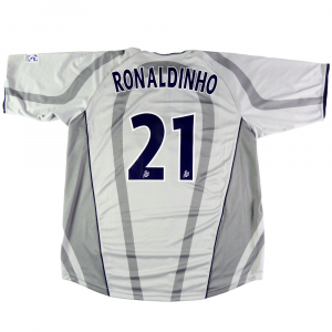 2001-02 PARIS SAINT-GERMAIN maglia #21 Ronaldinho away XXL (Top)