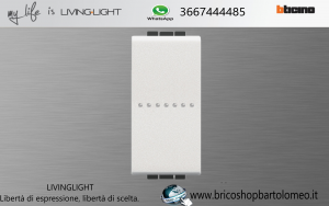 LivingLight Pulsante Assiale 16A 1P Bianco N4055N