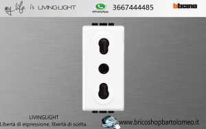 LIVINGLIGHT PRESA BIPASSO N4180