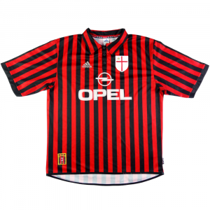 1999-00 AC MILAN MAGLIA HOME Centenario XL (Top)